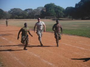 Cadet Flanick races an MAFCO cadet.
