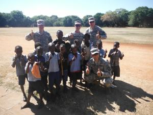 cadets with kids