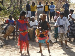 Cultural dance and display at the MPALE Cultural Village Museum