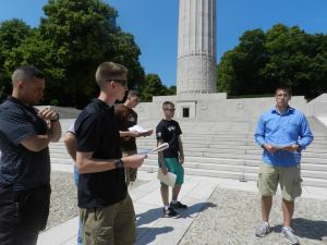 During the weekends, Cadets who spent their summer interning for EUCOM toured various historic sites, such as the Meuse-Argonne and Verdun France, to get a personal feel for, and a further education about, history. They also learned about different European cultures and studied local languages. Some of these lessons are ones they read about in history or ROTC classes but the Cadets said visiting the sites and talking to locals gave them a different perspective.