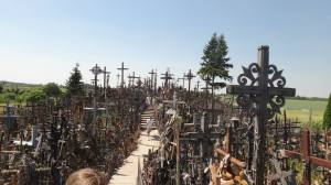 The Hill of Crosses--a Lithuanian landmark and attraction that gained immense significance in the lives of Lithuanians during the Soviet era as a sign of resistance.