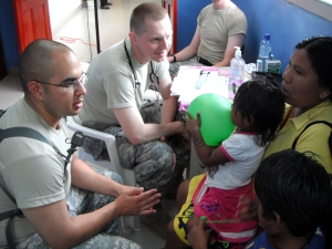 Cadets translated for doctors while in Panama on a humanitarian medical mission.