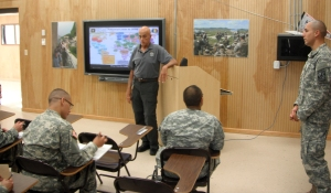 Retired Maj. Gen. Burn Loeffke instructed the Cadets in advanced Spanish medical translation.